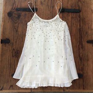 Gorgeous Off-White Beaded Mini Dress